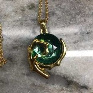 Legend of Zelda Green Spiritual Stone Necklace
